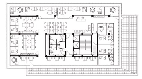 office block floor plans glass boxes cantilever from the concrete core of tatiana