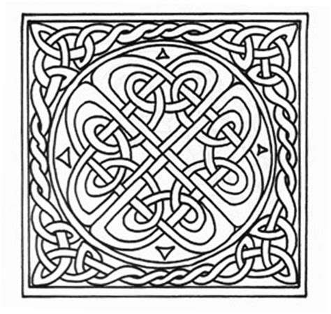 Knot Designs - free celtic border coloring pages
