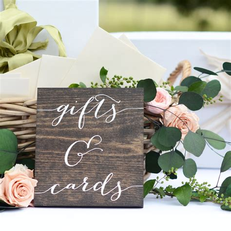 Gift Cards For Wedding Presents - gifts and cards sign wedding gift table sign gifts sign