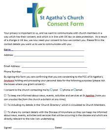 Gaining Consent Parish Resources Free Gdpr Consent Form Template