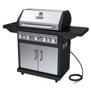 Shop dyna glo black and stainless steel 5 burner 79 000 btu natural