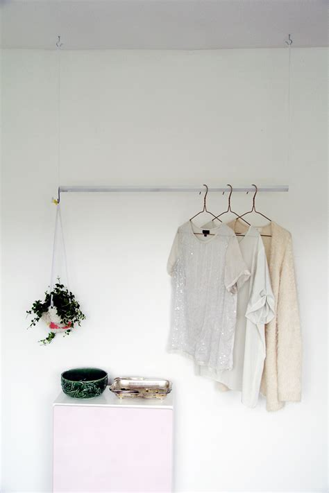 where to hang pictures fall for diy hanging wardrobe rail