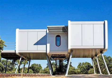 Low Cost Tiny Homes noem s futuristic spaceship house is controlled by a