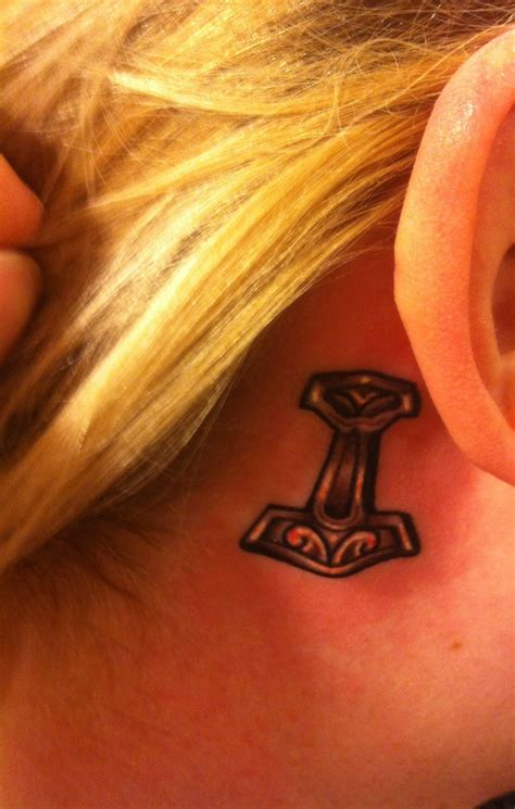 thor hammer tattoo glow in the dark 25 best nordic armband tattoo designs images on pinterest
