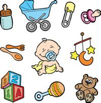 Baby Boy Shower Games - cartoon baby toys items collection stock vector freeimages com