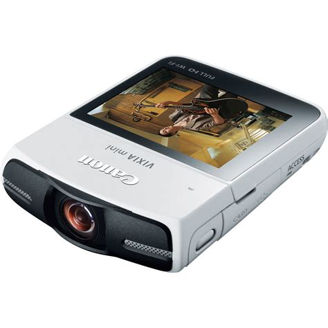Canon Introduce 2 New Camcorders To Their Mini Dv Line canon vixia mini camcorder white 8455b005 b h photo