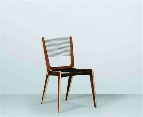 bench dining chair jacques guillon cord chair modern dining chairs by