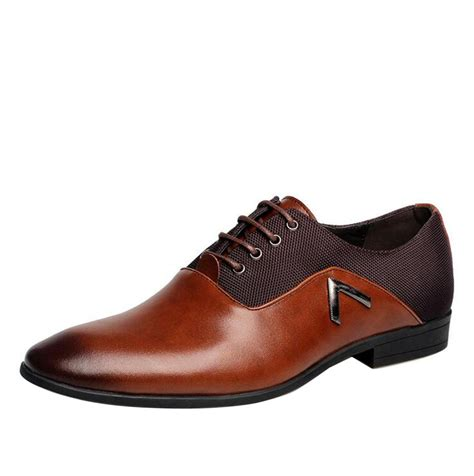 new brand dress shoes high quality genuine leather derby shoes solid brogues lace