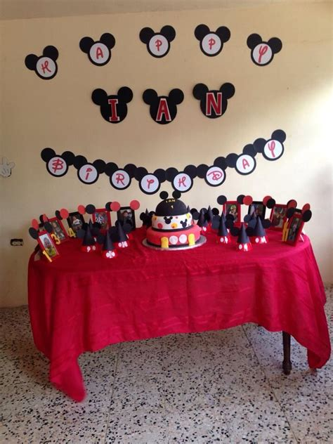Mickey Decorations Mickey B Day Banner Mickey Mouse Party Ideas Pinterest
