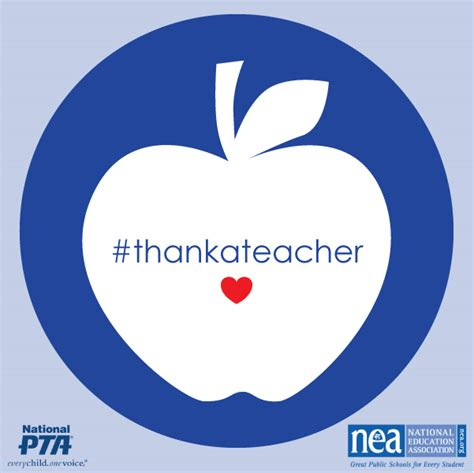 How Much Gift Card For Teacher Appreciation Week - nea thank a teacher during teacher week and you could win a 100 visa gift card to