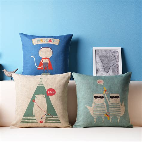 ikea couch pillows decorative mr cat pillows cushion covers capa de almofada