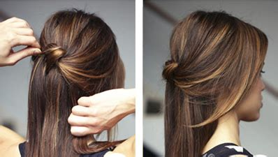 casual hairstyles tied up quot knot half updo quot simple casual work hairstyle hair diy