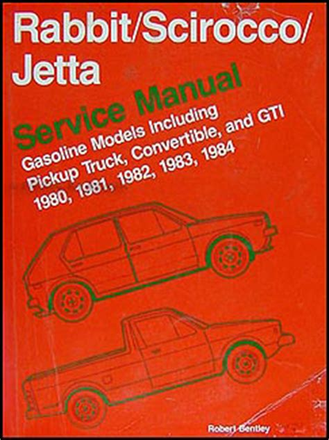 vehicle repair manual 1984 volkswagen scirocco on board diagnostic system 1980 1984 vw rabbit scirocco jetta repair shop manual