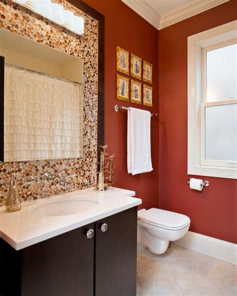 orange bathrooms bold bathroom colors that make a statement hgtv s decorating design blog hgtv