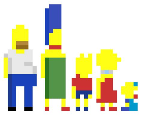 Minecraft Build Templates by Let S Build The Simpsons Pixel In Minecraft Pc