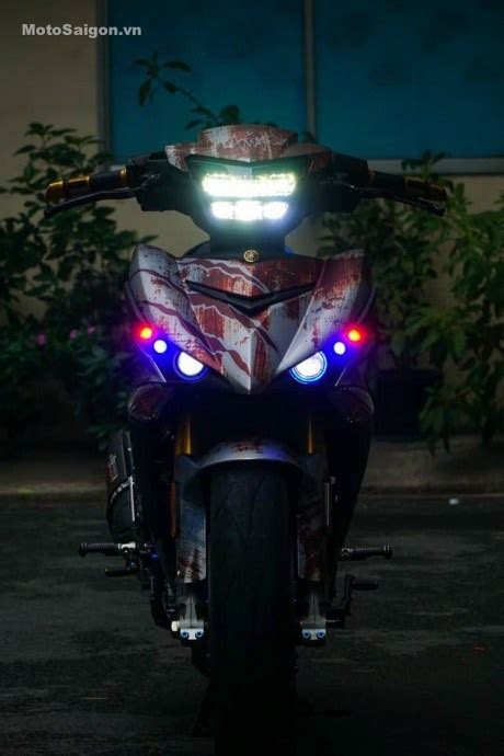 Lu Led Motor Mx King aripitstop 187 modifikasi cadaz yamaha mx king pakai kaki moge headl led honda sh150i