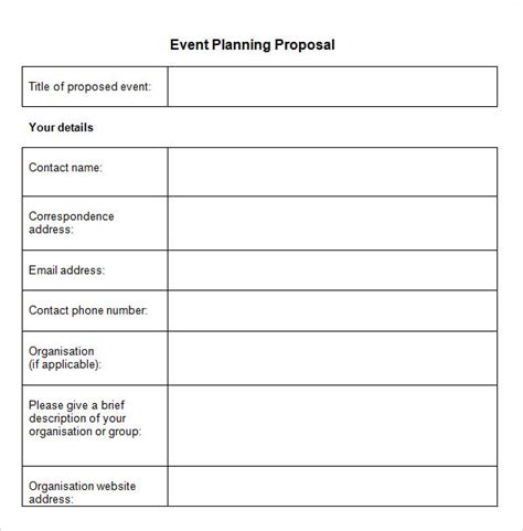 event planning document template sle event template 15 free documents in pdf