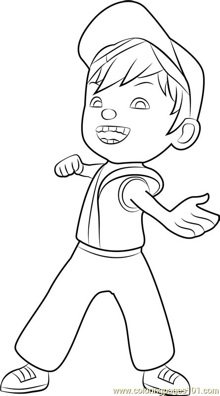 boboiboy fire coloring page  boboiboy coloring pages