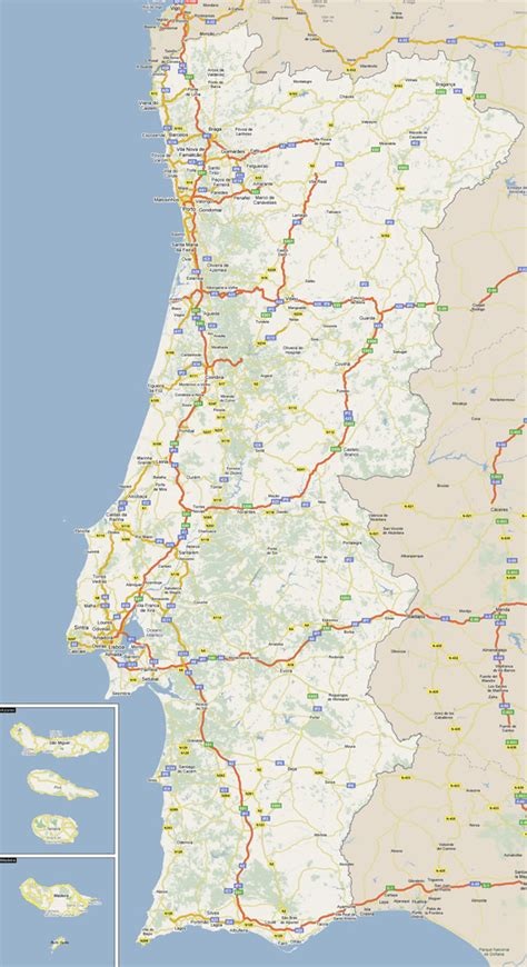 printable portugal road map large detailed road map of portugal with all cities
