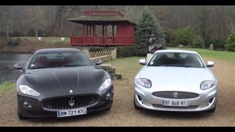 Maserati Vs by Jaguar Xk Vs Maserati Granturismo