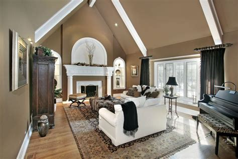 Cathedral Living Room by 20 Spacey Cathedral Ceiling Living Room Designs