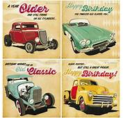 Mens Birthday Card / Classic Vintage Cars Sportscars