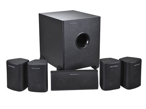 Subwoofer Untuk Home Theater 5 1 channel home theater satellite speakers subwoofer black monoprice