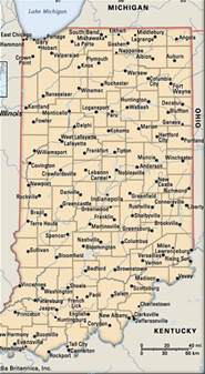map of small towns in mapping indiana talkleft the politics of crime