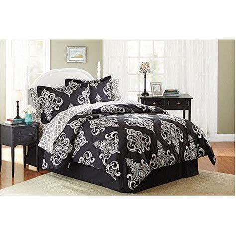 black and ivory bedding black ivory damask scroll print comforter sheets bedding