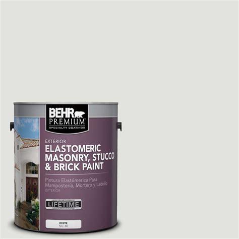 behr premium 1 gal ms 55 arctic gray elastomeric masonry stucco and brick paint 06801 the