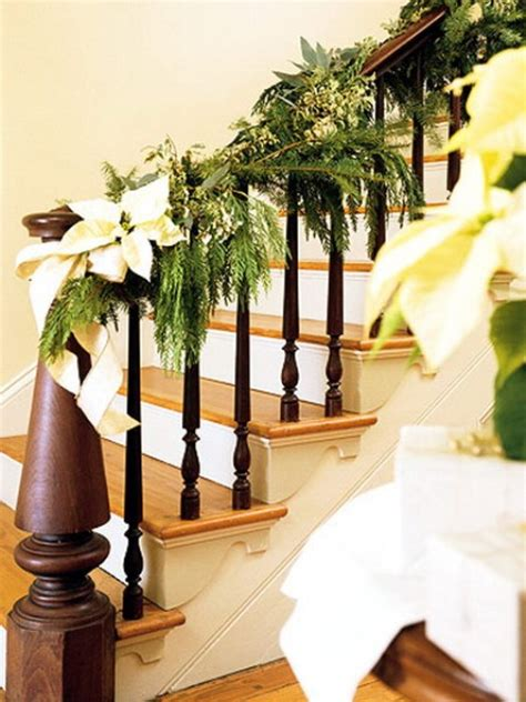 banister decorating ideas 100 awesome christmas stairs decoration ideas digsdigs