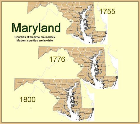 maryland formation map formation maryland counties
