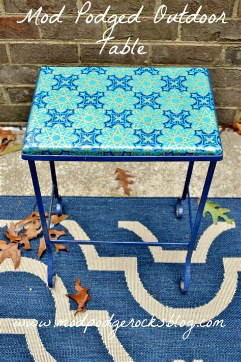 Decoupage For Outdoors - mod podge outdoor table