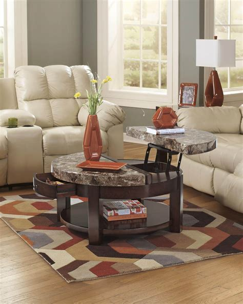 marble living room tables round lift top coffee table faux marble occasional tables
