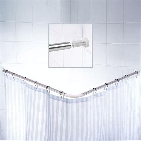 angled shower curtain rod german imports of high grade aluminum l shaped shower