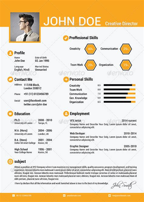 simple resume template vol 3 the simple cv resume vol 5 by cg virous graphicriver