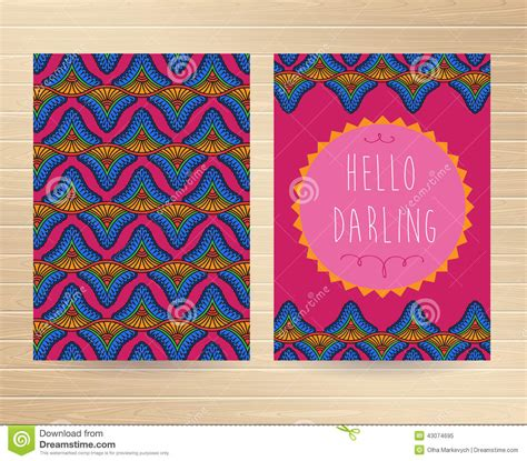 printable decorative note cards decorative cards stock vector image of hippie style