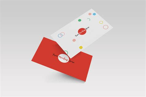 cards psd template free falling business card mockup psd template