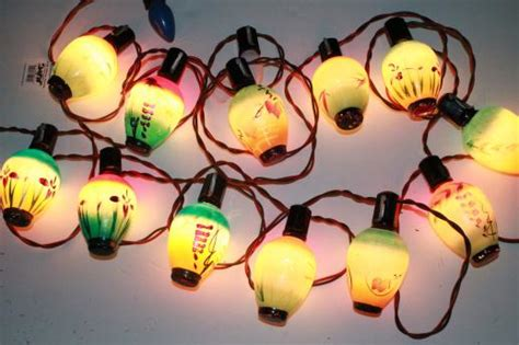 novalitie chrismaslight vintage figural light bulbs lantern novelty lights working string of 12