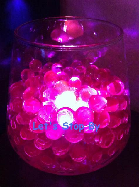 oz pink water pearl  led submersible wedding home