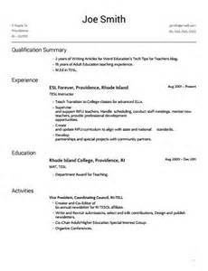 order of education and experience on resume
