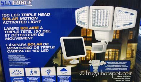 sun solar light costco sale sunforce 150 led solar motion security light