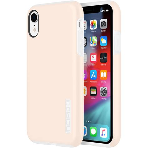 incipio dualpro for iphone xr blush iph 1748 rsb b h