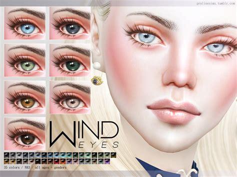 sims 4 realistic eyes pralinesims wind eyes n83
