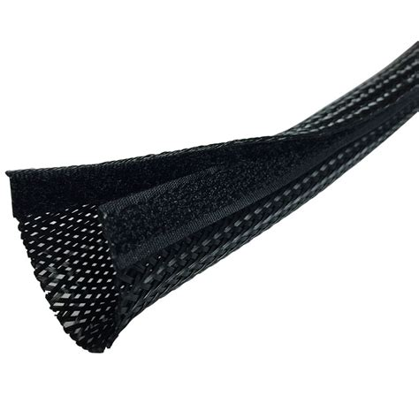 Sides Cable side entry cable wrap sleeving with hook loop fastener