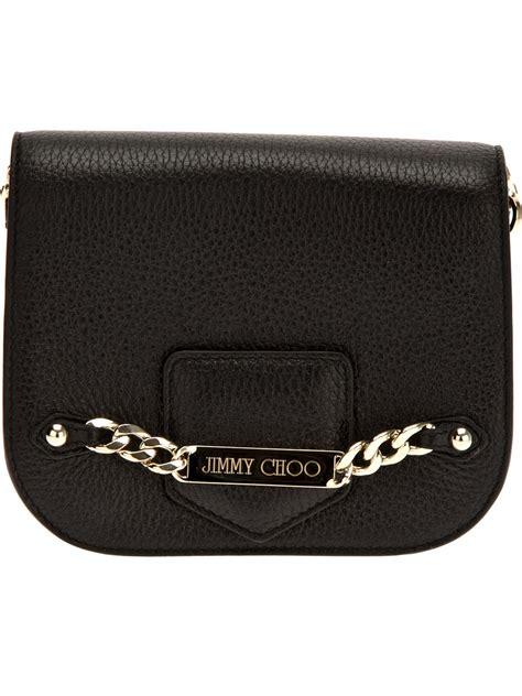 Jimmy Choo Ring Shoulder Bag by Jimmy Choo Chain Shoulder Bag In Black Lyst