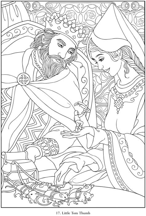 fairy tale coloring pages for adults pictures to pin on