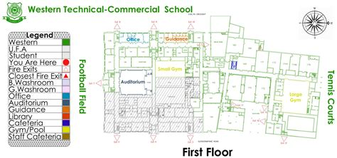 Home Floor Plan Layout western tech school map first floor layout