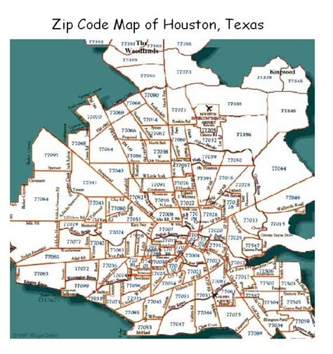texas zipcode map zip codes for housten tx