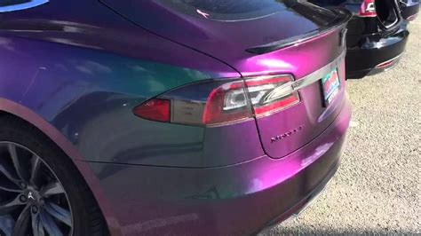color changing paint electric color changing tesla model s